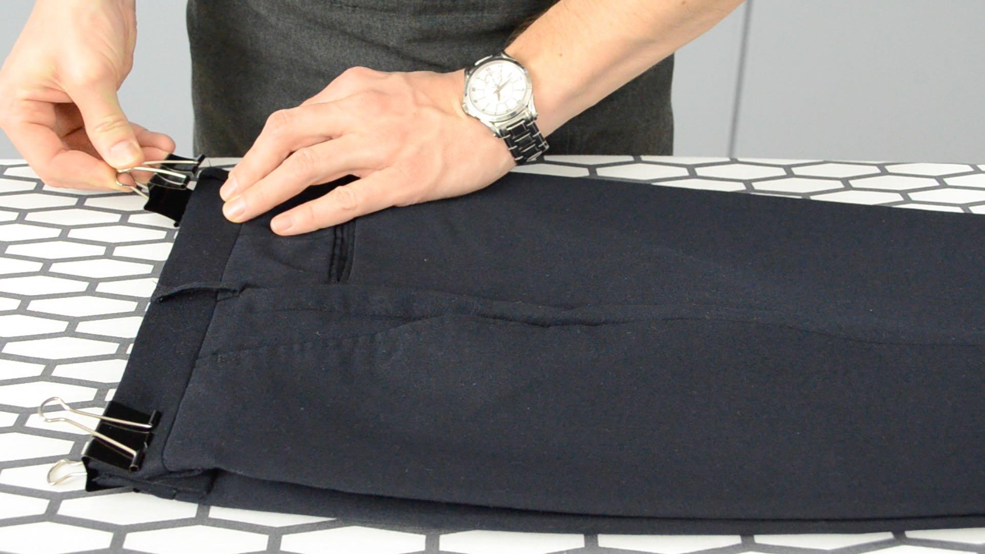 Как сделать стрелки на брюках мужских