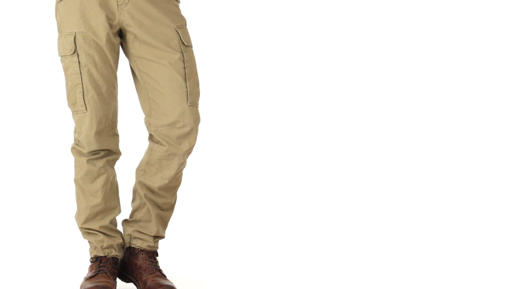 regular cut cargo pants