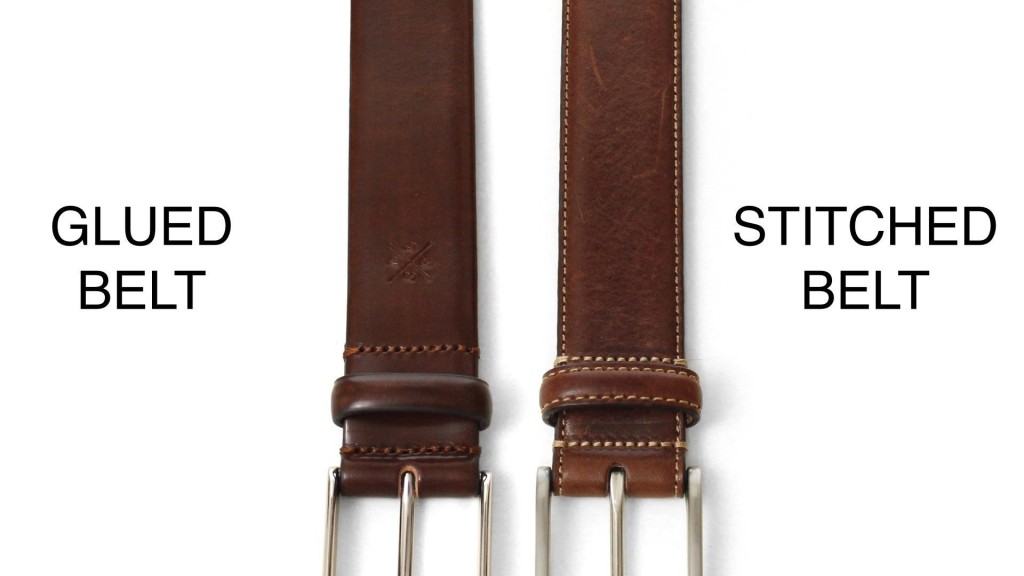 BELTS FOR MEN STITCHED BELT VS GLUED BELT COMP