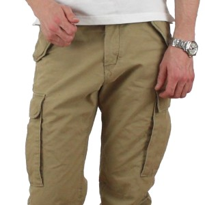 are khaki coloured cargos for men in style