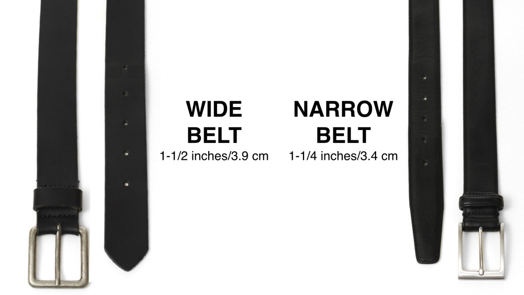 wide belt vs narrow belt