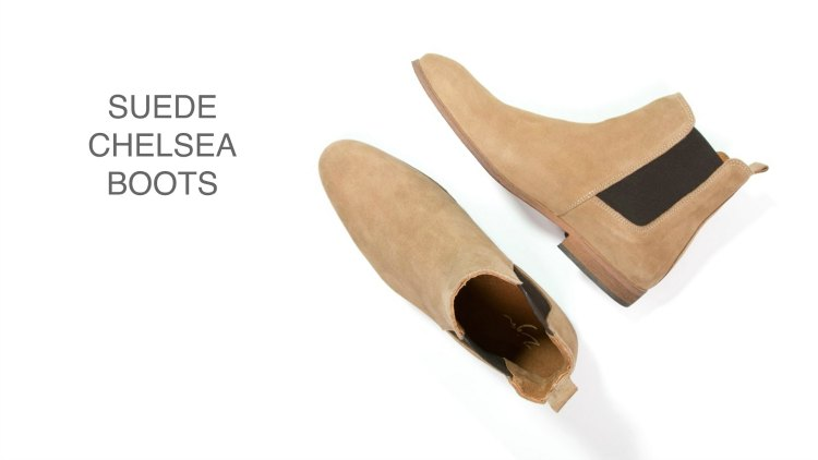 Suede beige chelsea boots from zing 1