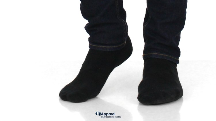 black socks with dark washed jeans