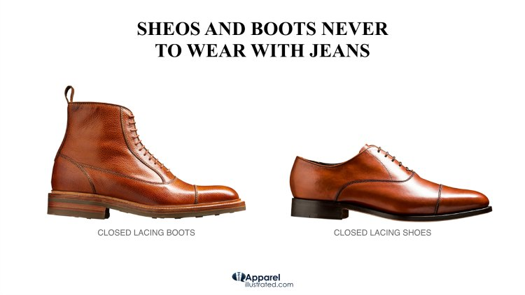 too formal boots and shoes to wear with jeans
