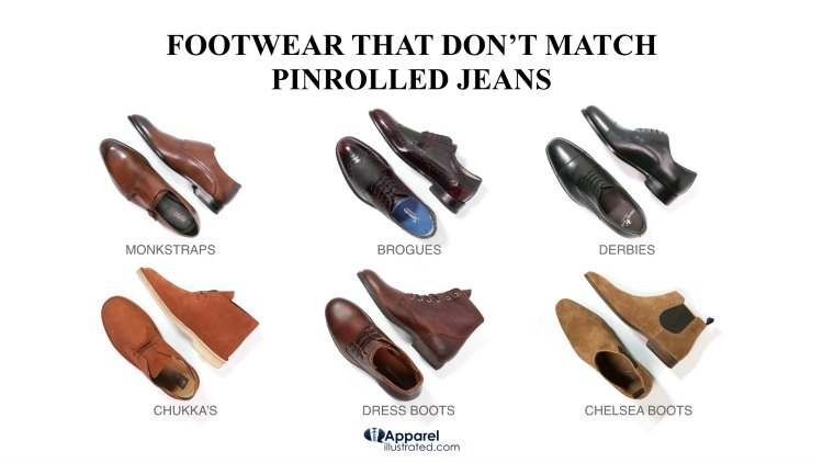 how to pinroll jeans shoes to never wear 1