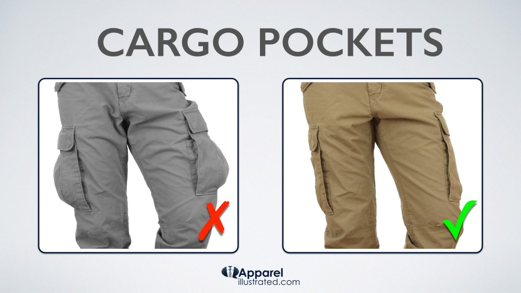 empty vs full cargo pockets