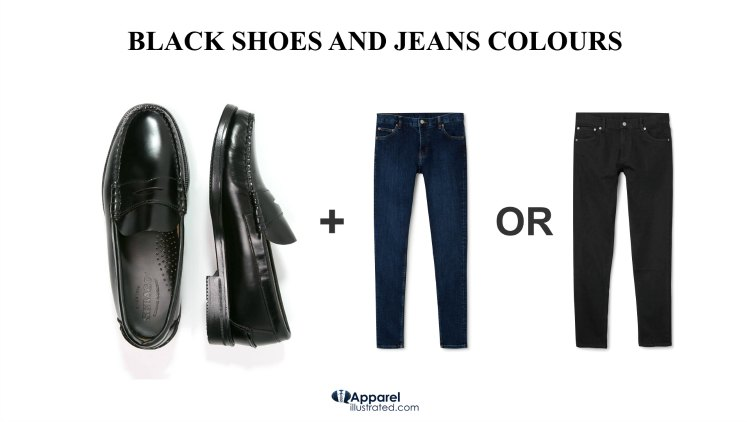 Black Shoes On The Other Hand Can Be Worn With Both Blue And Jeans