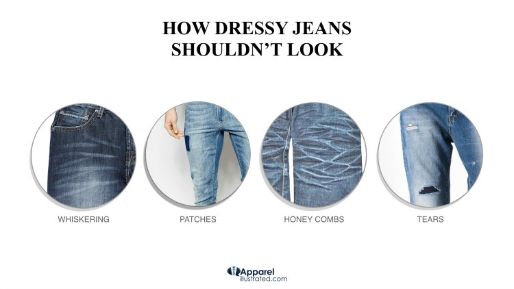 how dressy jeans should not look