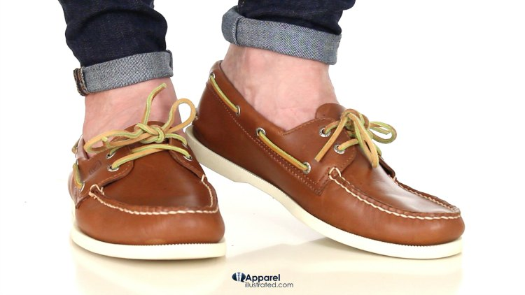 how to pinroll jeans with boat shoes comp 1