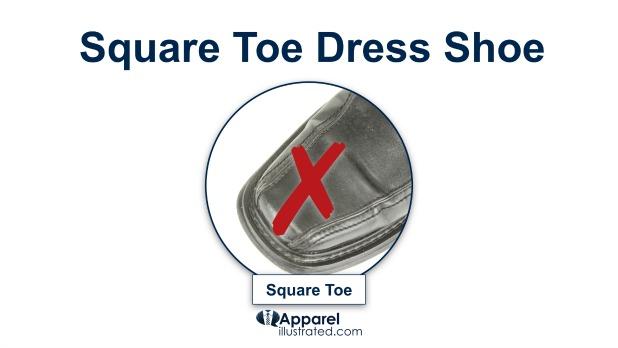 avoid square toe dress shoes