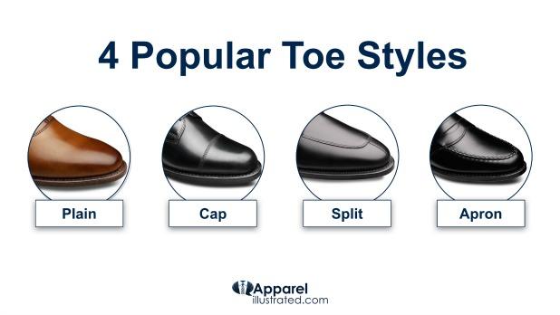 Best Dress Shoes Toe Styles