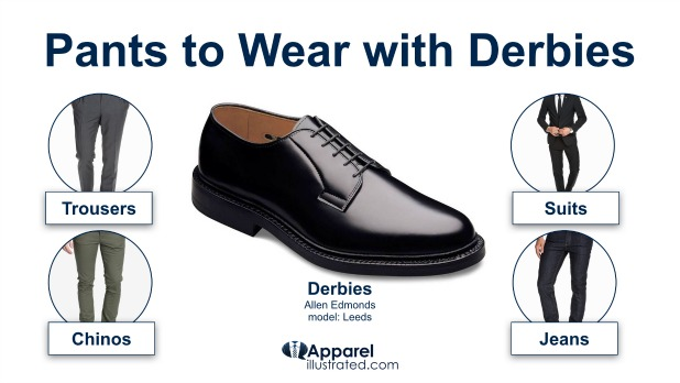 derby shoes with suit