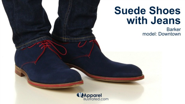 suede shoes with jeans