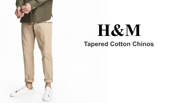 Best Chinos H&M Tapered Cotton Chino
