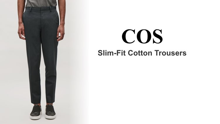 Best Chinos COSSlim-Fit Cotton Trousers