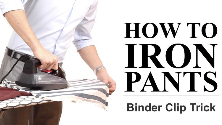 How to Iron Pants Faster and Better (Using Binder Clips)
