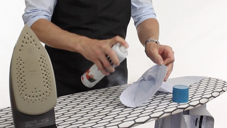 How to Iron Shirts starch on cuffs