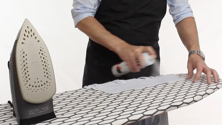 How to Iron Shirts starch on collar