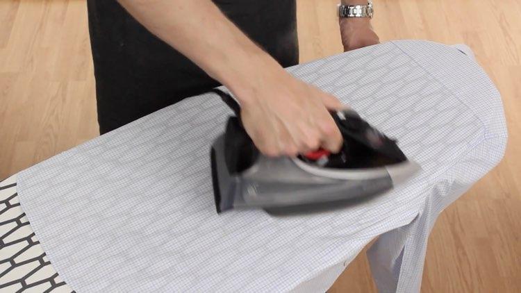 How to Iron Shirts ironing back