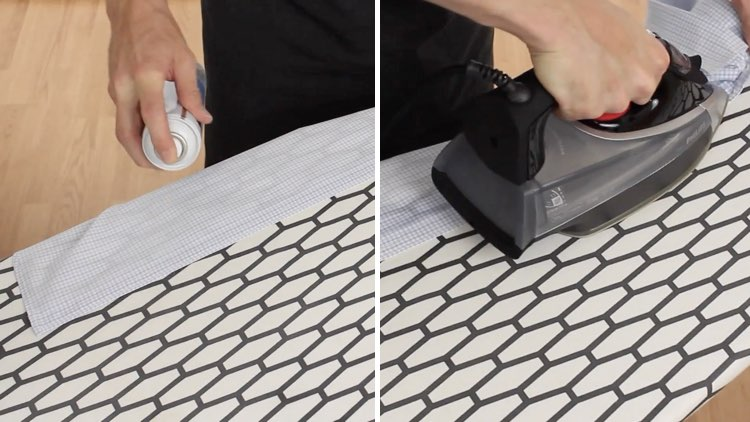 How to Iron Shirts starch on placket