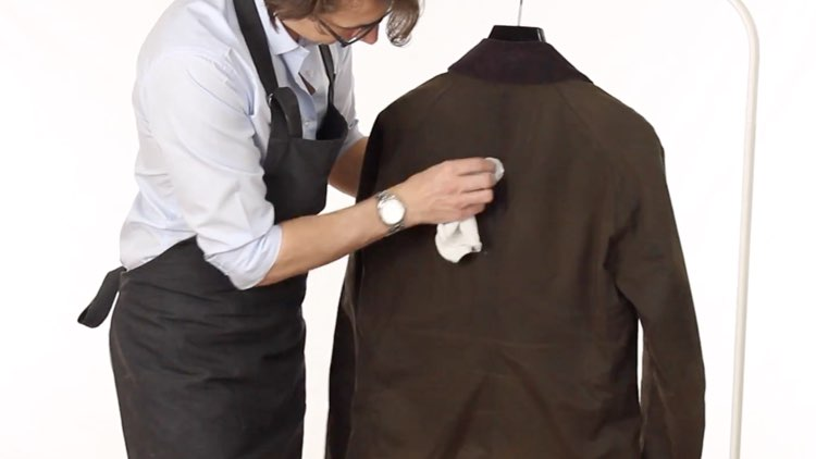 Jacket and Coat Care Wiping Stain of Wax Jacket