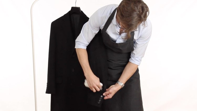 Jacket and Coat Care Wool Coat Wiping