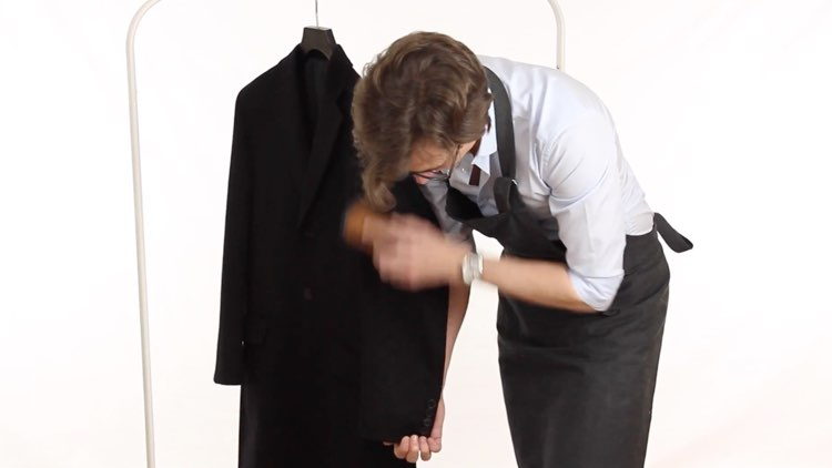 Jacket and Coat Care Brushing Down Wool Coat