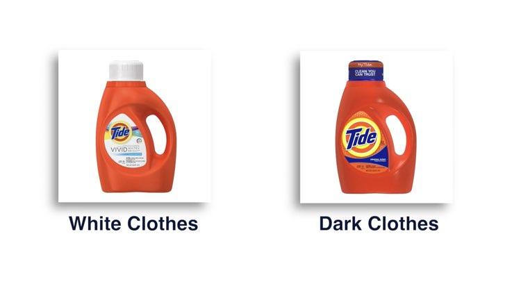 Underwear Care white and dark detergent