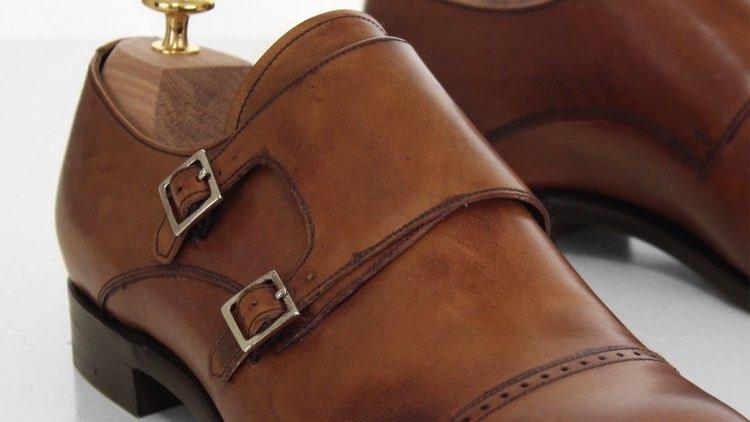 closeup image of monkstraps buckles