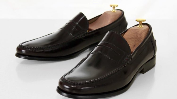 image of leather loafers