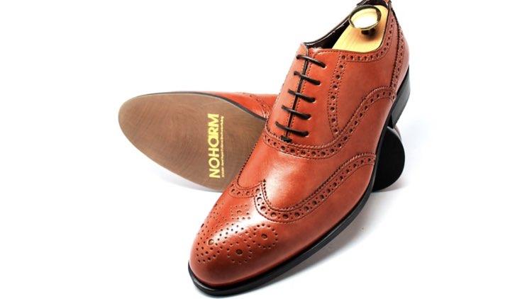 image of quarter brogue shoes