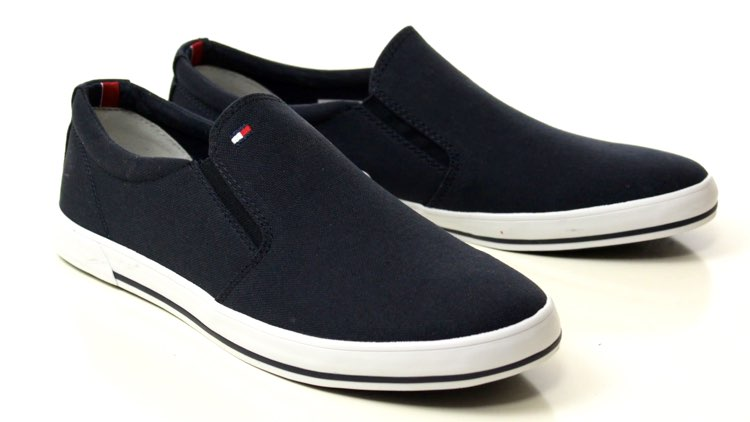image of slip-on canvas loafers