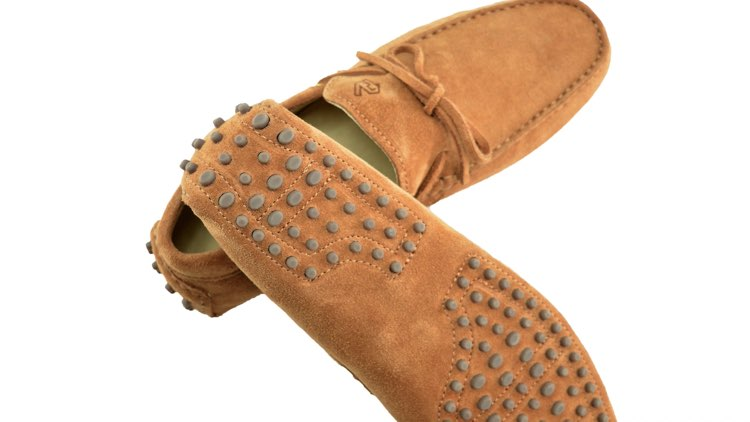 image of sole on underside of driving moccasin